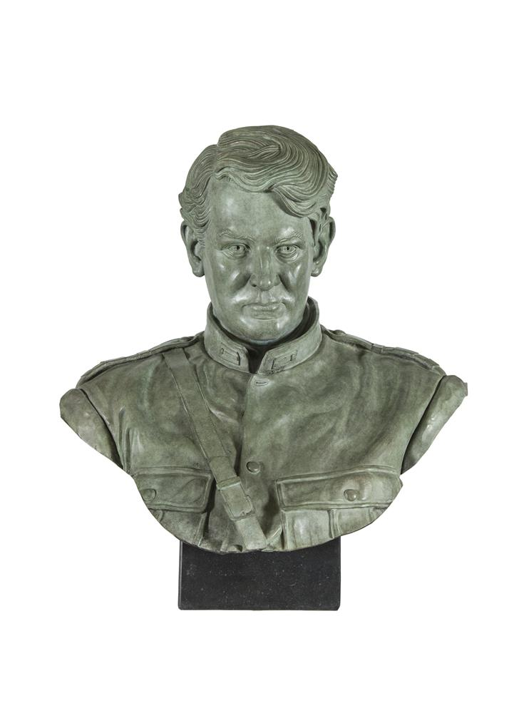 Rory Breslin (b.1963)Michael CollinsBronze bust, 60cm (23½) highSigned, dated 2010 & No 1/3