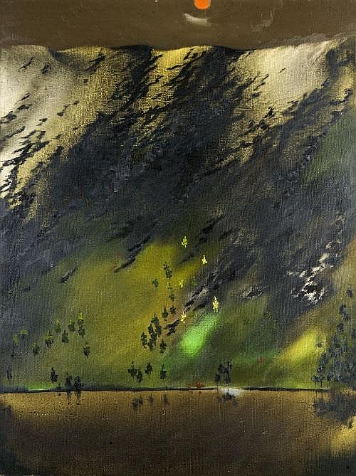 Patrick Hickey HRHA (1927-1998) Escarpment,