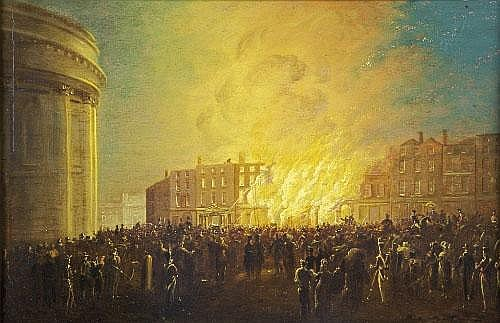 William Sadler II (1782-1839) Fire at the Royal