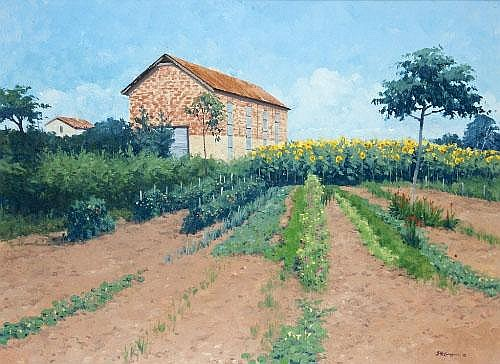 Brett McEntagart RHA (b.1939) The Red Brick Barn,