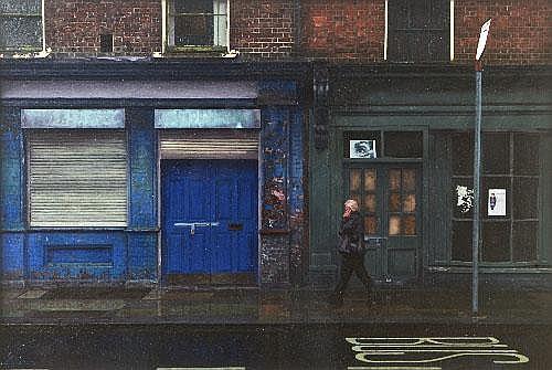 Lelia Donnelly (b.1979) Walking in the Rain Oil on