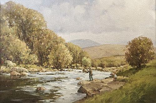 Arthur H Twells ARUA (b.1921) Ashleigh Falls near