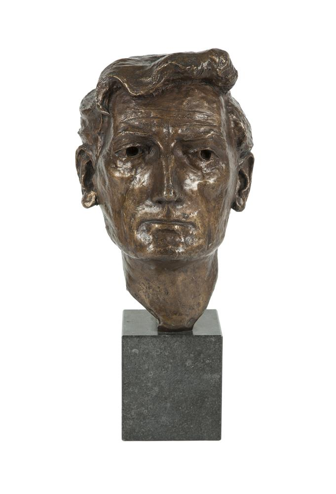 Gary Trimble ARHA (1928-1979)James PlunkettBronze, 32cm high (12½'')Raised on a limestone base, 45cm high overall (17¾'')James Plunkett (1920-2003) was an Irish writer whose best known work is the novel 'Strumpet City', which was set in Dublin in