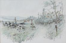 James English RHA (b.1946)Summer GrassesWatercolour, 32 x 48cm (12½ x 19)Artist's label verso