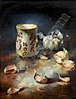 Owen Rohu (b.1966) Oriental Porcelain with Garlic, Owen Rohu, Click for value