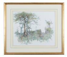 JAMES ENGLISH RHA (B.1946)Wooded LandscapePastel, 34 x 41 cmSigned