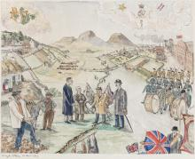 Angela Antrim (1911-1984)The Field (1979)Watercolour, 48 x 59cm (19 x 23¼'')Signed and dated 1979Exhibited: 'UTV Collected', The Gray Printers Museum, Strabane, January / February 2004