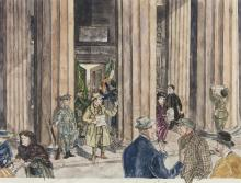 Angela Antrim (1911-1984)Proclamation, GPO Dublin (1979)Watercolour, 48 x 63cm (19 x 24¾'')Signed and dated 1979 (faded)