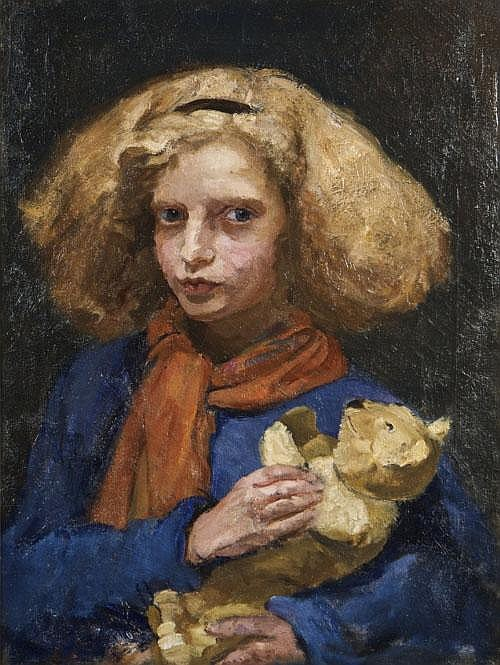 Estella Solomons HRHA (1882-1968) Ruth with Teddy