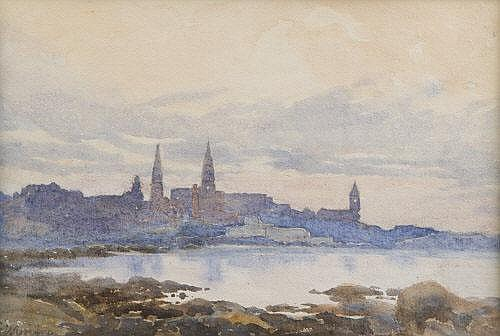 GLADYS WYNNE (1876-1968) Dun Laoghaire from