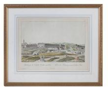 JOHANN ZIEGLER (1749-1812) View against the suburbs of Wieden and Vienna, c.1780 Hand Coloured Engraving, 33.5 x 42cm; together with Daumont, Paris c.1780 Le Palais des Tuileries du c?t? de la Cour Coloured engraving, 33.5 x 42cm