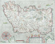 William Hole (fl. 1607-1646)HiberniæFrom Camden's Britannia.  Eigth edition (1837).  Based on Mercator's map (1595).  Abl P238.
