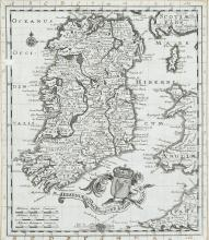 Johann Christoph Beer (1665-1695)A Map of IrelandFrom Neu Geharnischte Gross Britannien.  250 x 295; together with A Town Plan of Dublin.  130 x 160.  Published Nuremberg in 1690.  Abl 30. (2)