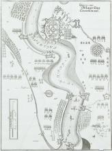 Matthäus Merian (1621-1687)A Battle Plan of the Siege of Londonderry(1689).  260 x 350.