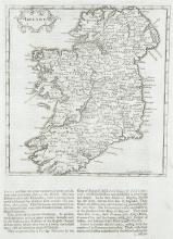 Herman Moll (1655-1732)Ireland From his Thesaurus Geographicus published in London in 1695.  175 x 185.  Abl 41(ii).