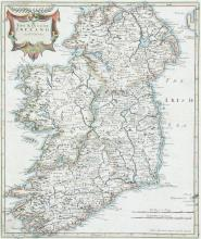 Robert Morden (1668-1703)A Kingdom of IrelandFrom Gibson's edition of Camden's Britannia (1722). Newry has replaced Nury which appeared in the 1695 edition.  350 x 420.  Abl 42(ii).