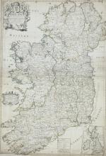 John Senex (1678-1740)'Ireland'. From Atlas published by Senex (1728).  670 x 950.  Abl 55(ii).