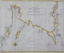 JOHN SELLER (1634-1697)A chart from Galway to the ShannonEngraving (1750), 45 x 53cm