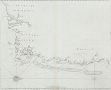 John Seller (1634-1697)Chart of the South-East Coast of Ireland This chart appears first in Seller's The English Pilot, Southern Navigation of 1690, and it was unchanged in editions up to 1715.  Later editions used new plates.It shows the coast fr