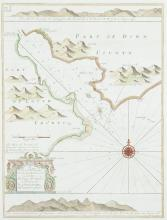 Greenville Collins (1653-1693)A Chart of Carlingford Lough from his Great Britain's Coasting Pilot.  This is the second state. 325 x 430