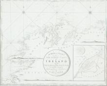 WILLIAM HEATHER Chart of the North Coast of Ireland The title is in a circular frame in the centre and reads A New Chart Of The North Coast of Ireland From Sligo Bay to Rachlin Isle Drawn From The Latest Surveys for W.  Heather.  1807. Below the
