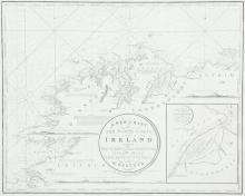 WILLIAM HEATHER IV Chart of the North Coast of Ireland The title is in a circular frame in the centre and reads A New Chart Of The North Coast of Ireland From Sligo Bay to Rachlin Isle Drawn From The Latest Surveys for W.  Heather.  1807. Below t