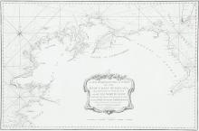 HUDDARTChart of the North Coast of IrelandThe title is a scalloped frame in the bottom centre and reads A New Hydrographical Survey of the West Coast of Ireland from Sligo Bay to Tory Island and of the North Coast from Tory Island to Raughlan Isla