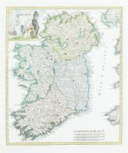 GUILLAUME DELISLE (1675-1726)IrlandaAnother state of the above with twelve added fortification symbols.  From Atlas Novissimo, 1750.  Abl 75(ii).
