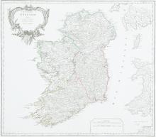 DIDIER ROBERT DE VAUGONDY (1723-1786)A Map of IrelandLe Royaume D'IrlandeFrom de Vaugondy's Altas Universelle, (1793).  555 x 495.  Abl 83(iv).