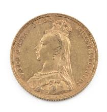 A FINE GOLD FULL SOVEREIGN, Queen Victoria 1888. 22mm diameter