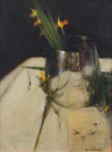 James English RHA (b.1946)Miniature DaffodilsOil on board, 24 x 19cm (9½ x 7½'')Signed, dated 2009 on studio label verso