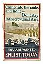 IRISH WORLD WAR I PROPAGANDA POSTER (c.1915)