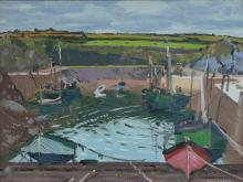 Maurice MacGonigal PRHA (1900-1974) Clogher Harbour Oil on panel, 30 x 40cm (11¾ x 15¾'') Signed; inscribed verso