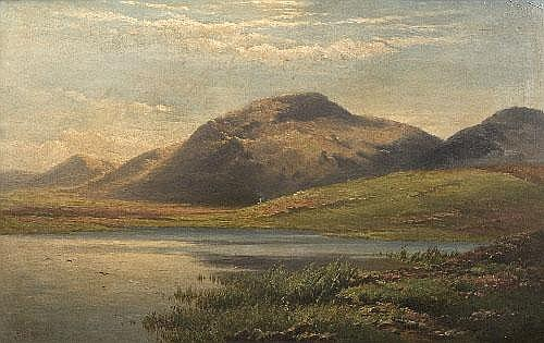 Patrick Vincent Duffy RHA (1836-1909) Lake Scene
