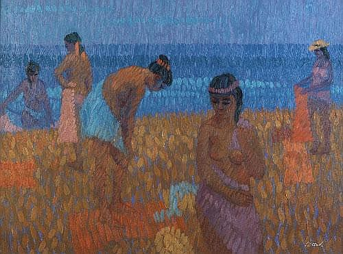Desmond Carrick RHA (b.1928) Bathers after