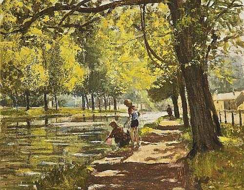 Tom Nisbet RHA (1909-2001) The Grand Canal Oil on