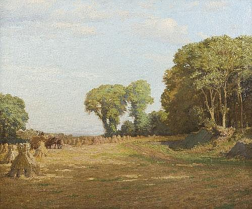 Dermod O'Brien PRHA (1865-1945) Harvesting the