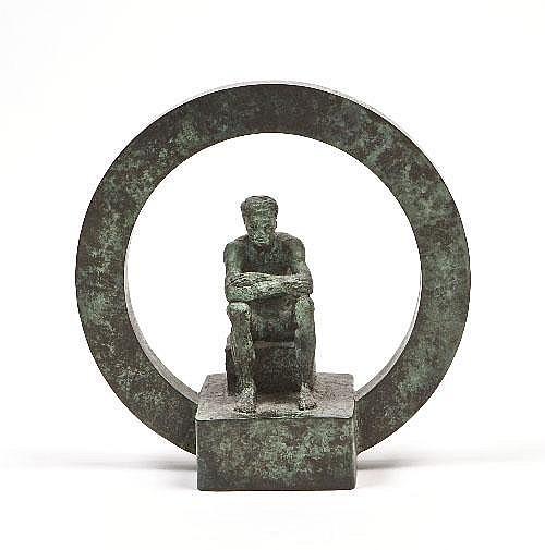 ROBIN BUICK RHA ARHA (B.1940) Seated Man in a Disc
