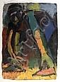 Michael Kane (b.1935) Crouching Figure Oil and