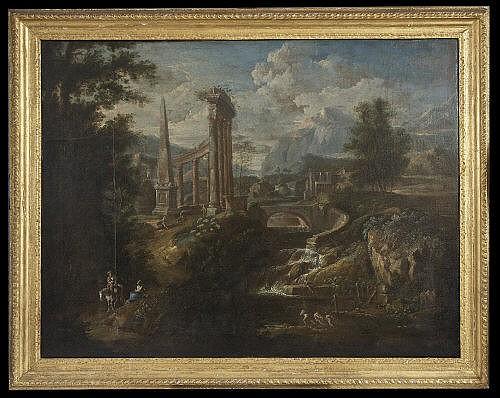 WILLEM VAN DER HAGEN (d.1745) A river landscape