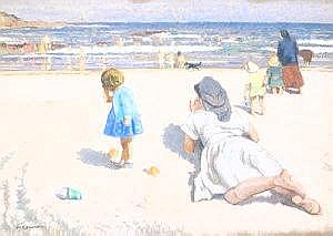 Patrick Leonard, HRHA, (1918-2005) Afternoon at