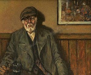 Ken Moroney (b.1949) Early Evening Pint Oil on