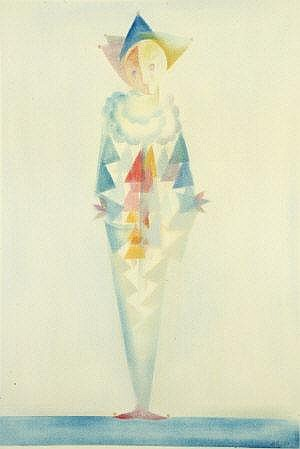 John Kelly RHA (1932-2006) Clown Watercolour, 67 x