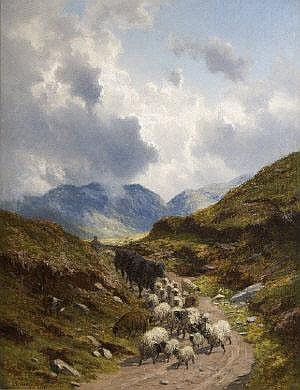Alfred Grey RHA (1845-1926) The Way Home -