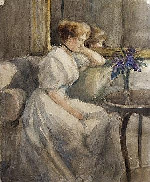 Eva Henrietta Hamilton (1876-1960) Portrait of her
