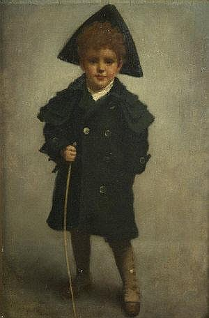 Richard Thomas Moynan RHA (1856-1906) Boy with a