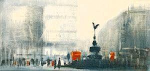 Anthony Klitz (1917-2000) Picadilly Oil on canvas,