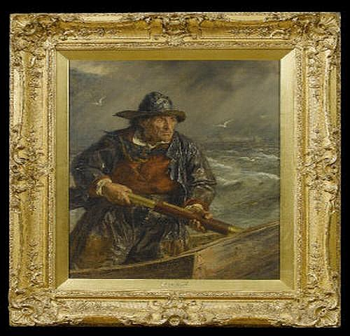 Erskine Nicol (1825-1904) On the Lookout Oil on