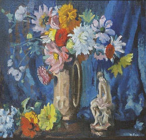 Kathleen Fox, (1880-1963) Flowers from a Garden in