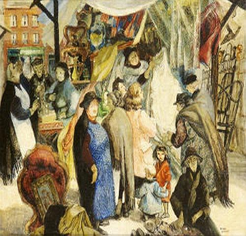 Muriel Brandt RHA (1909-1981) Daisy Market, Dublin